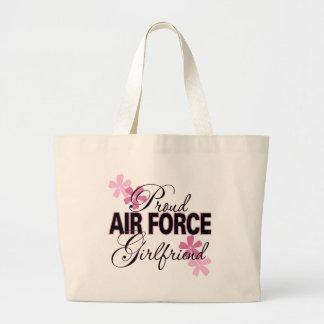 Proud Air Force Girlfriend Large Tote Bag