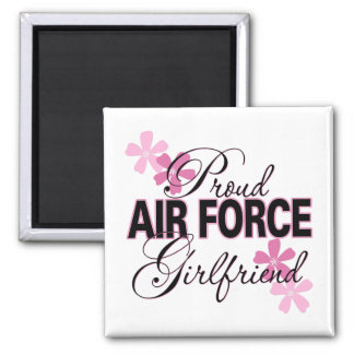 Proud Air Force Girlfriend 2 Inch Square Magnet