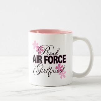 Proud Air Force Girlfriend Two-Tone Coffee Mug