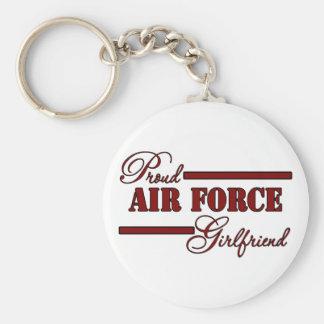 Proud Air Force Girlfriend (Red N Black) Keychain