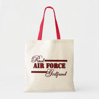 Proud Air Force Girlfriend (Red N Black) Tote Bag