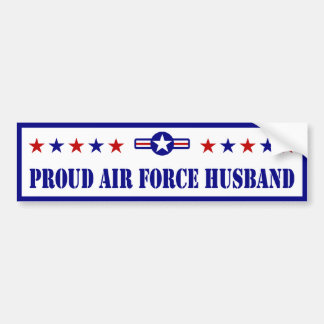 Proud Air Force Husband Bumper Stickers