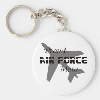 Proud Air Force Mom Black & White Keychain