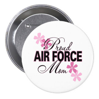 Proud Air Force Mom 3 Inch Round Button