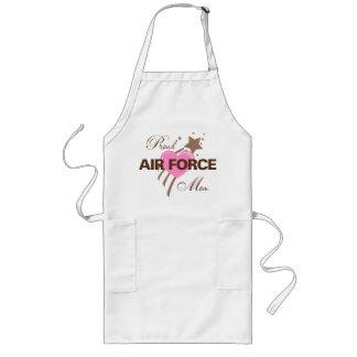 Proud Air Force Mom Heart Long Apron