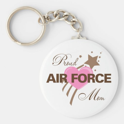 Proud Air Force Mom Heart Keychain