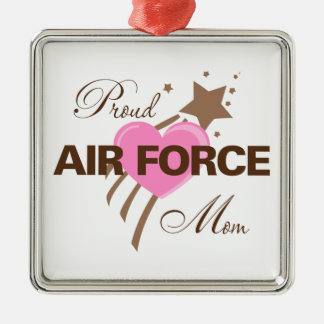 Proud Air Force Mom Heart Metal Ornament