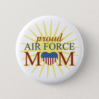 Proud Air Force Mom Pinback Button