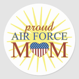Proud Air Force Mom Classic Round Sticker