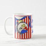 proud Air Force MOM vintage print design Classic White Coffee Mug