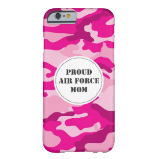 Proud Air Force Mom Wife pink camouflage camo case Barely There iPhone 6 Case