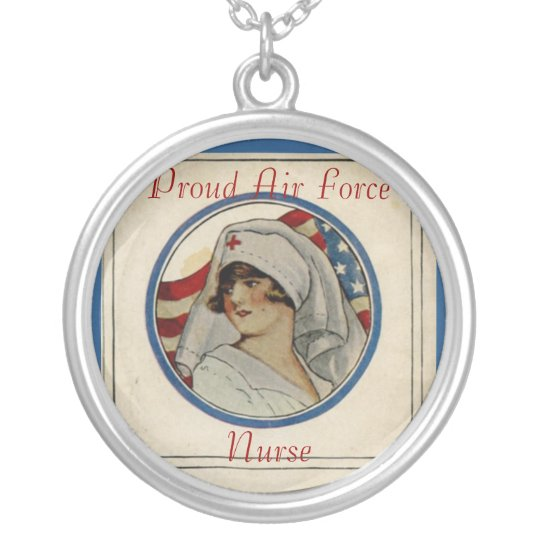 Proud Air Force Nurse Necklace