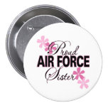 Proud Air Force Sister Pinback Buttons