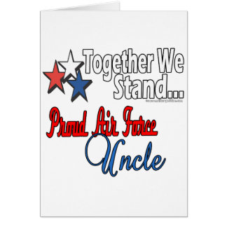 Proud Air Force Uncle Card
