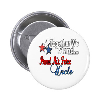 Proud Air Force Uncle Pinback Button