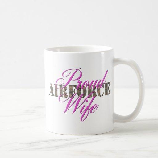 proud air force wife coffee mug