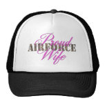 proud air force wife mesh hat