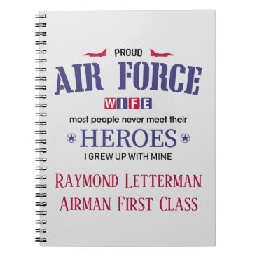 Proud Air Force Wife Personalized Journal Notebook