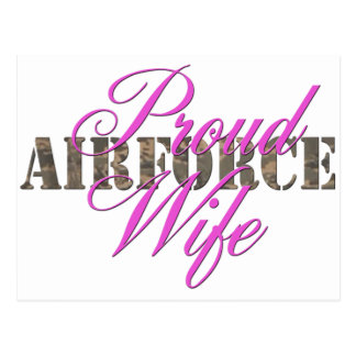 proud air force wife postcards