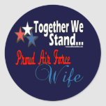 Proud Air Force Wife Round Sticker