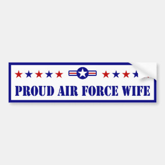 Proud Air Force Wife Stars Bumper Sticker