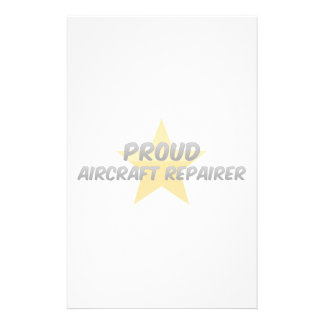 Proud Aircraft Repairer Personalized Stationery