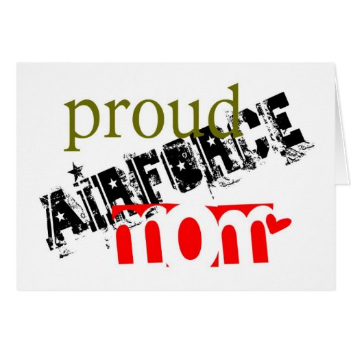 proud airforce mom cards