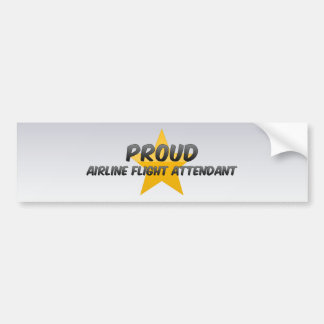 Proud Airline Flight Attendant Car Bumper Sticker