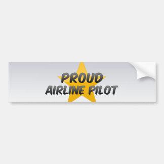 Proud Airline Pilot Bumper Stickers