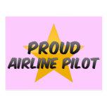 Proud Airline Pilot Postcard
