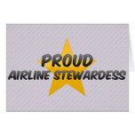 Proud Airline Stewardess Cards