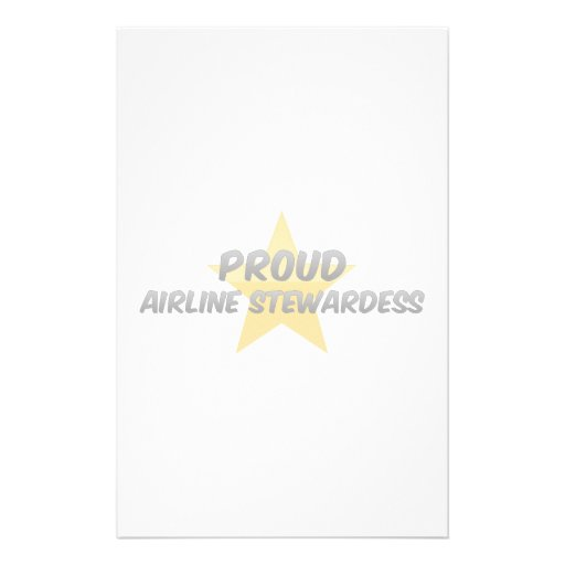 Proud Airline Stewardess Customized Stationery