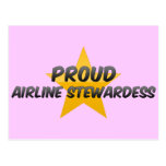 Proud Airline Stewardess Post Cards