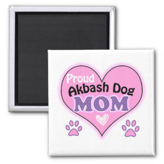 Proud Akbash Dog mom 2 Inch Square Magnet