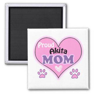 Proud Akita mom 2 Inch Square Magnet