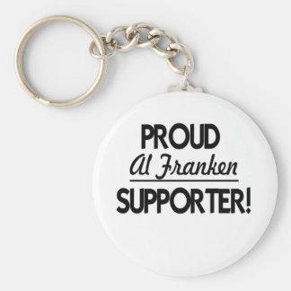 Proud Al Franken Supporter! Basic Round Button Keychain