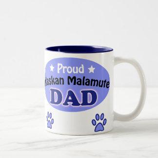 Proud Alaskan Malamute Dad Two-Tone Coffee Mug