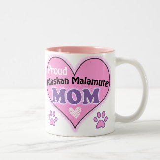 Proud Alaskan Malamute Mom Two-Tone Coffee Mug
