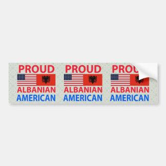 Proud Albanian American Car Bumper Sticker