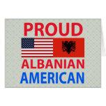Proud Albanian American Card