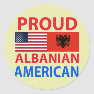 Proud Albanian American Classic Round Sticker