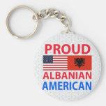 Proud Albanian American Key Chains