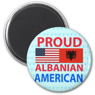 Proud Albanian American Refrigerator Magnet
