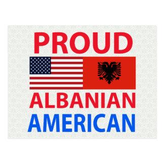 Proud Albanian American Postcard