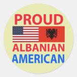 Proud Albanian American Sticker