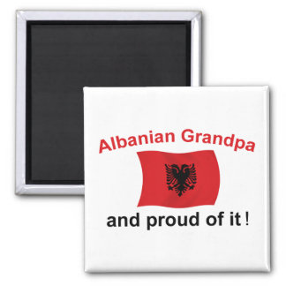 Proud Albanian Grandpa 2 Inch Square Magnet