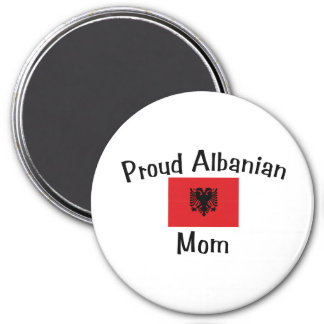 Proud Albanian Mom 3 Inch Round Magnet