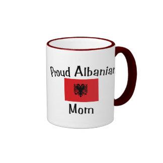 Proud Albanian Mom Ringer Coffee Mug