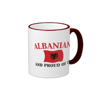 Proud Albanian Ringer Coffee Mug