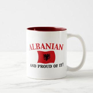 Proud Albanian Two-Tone Coffee Mug